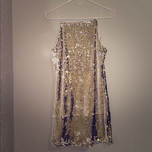 FOREVER 21 GOLD Sequence Sequin Dress
